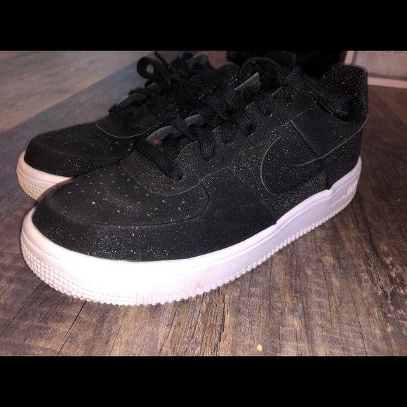 Black Sparkly Nike Air Forces